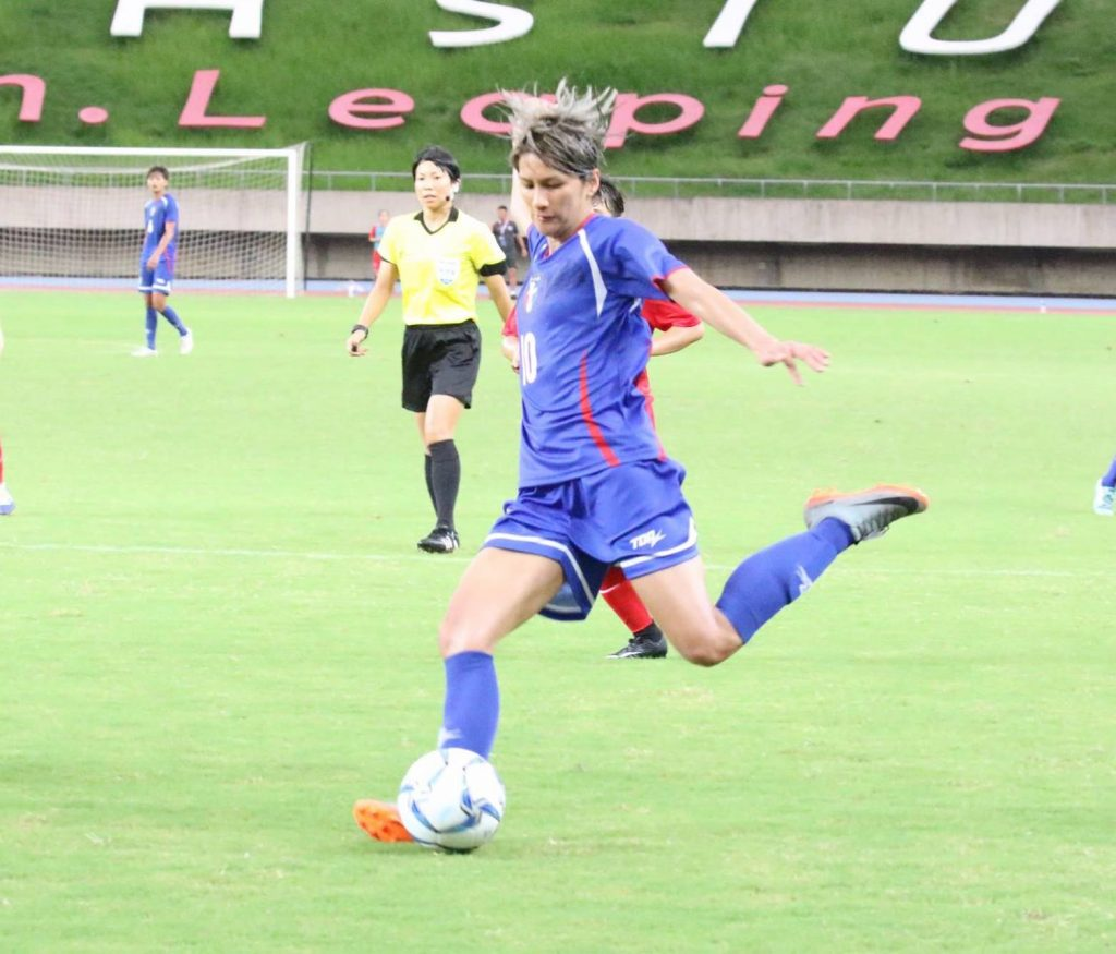 雅加達巨港亞運》余秀菁精彩射門攻下第一球 中華女足不敵南韓